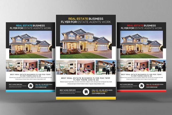 real estate flyer template by graphicforest on creativemarket