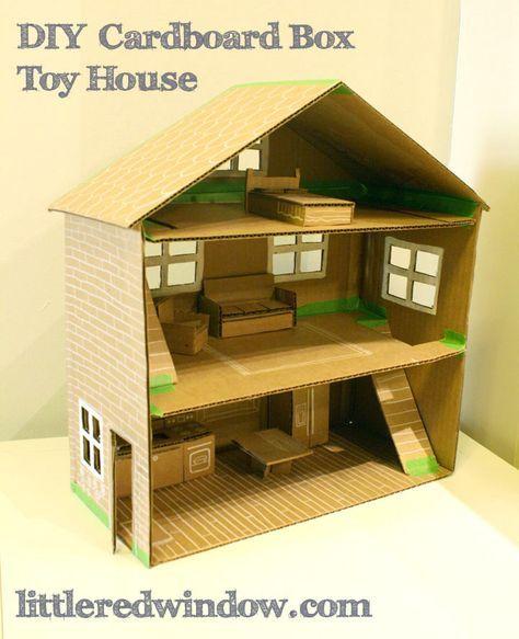 Diy Cardboard Box Toy House Art That I Love Dolls Diy Cardboard