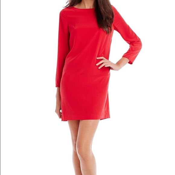 Red polyester long sleeve Armani Exchange dress!! It's super cute on with a belt and some booties to make it more casual for the fall and it can be dress up as well with some heel and a beautiful necklace! No trade please offers are always welcome! A/X Armani Exchange Dresses