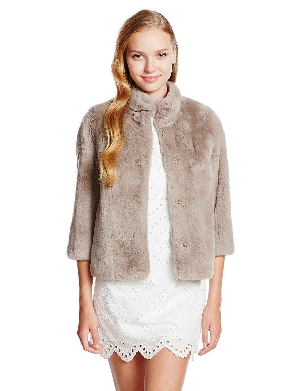 (ダブルスタンダードクロージング) DOUBLE STANDARD CLOTHING Sov.ラビットファーコート 8732063 A グレージュ 36