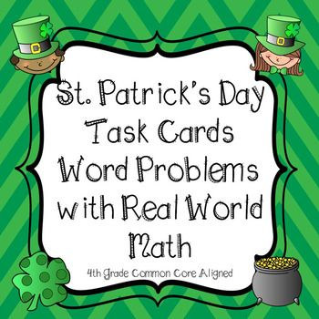 St. Patrick\'s Day Math Word Problem Task Cards With Traditions from ...