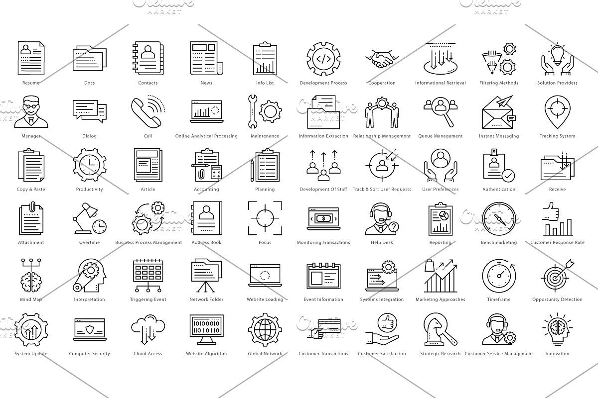 1270 Business Line Icons Line icon, Icon, Business icon