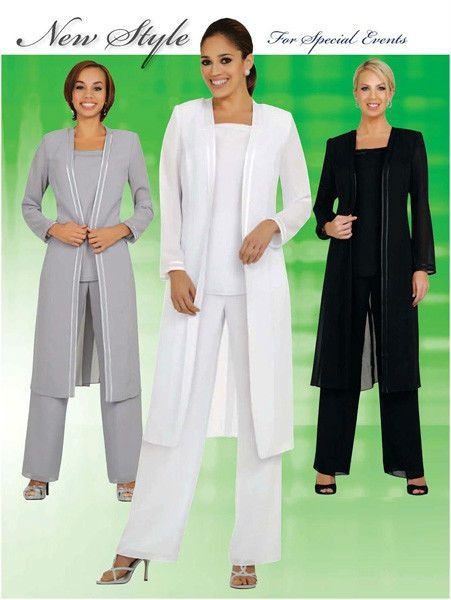 eb22545c842 Women 3pc Pant Set Plus Size Evening Dress Party Special Event Mother of  Bride