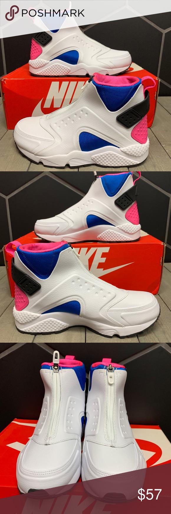 New W/ Box! Womens Nike Air Huarache Run Mid White   Nike air ...
