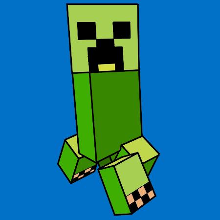 Coloriage Le creeper de Minecraft a imprimer | dessin ...