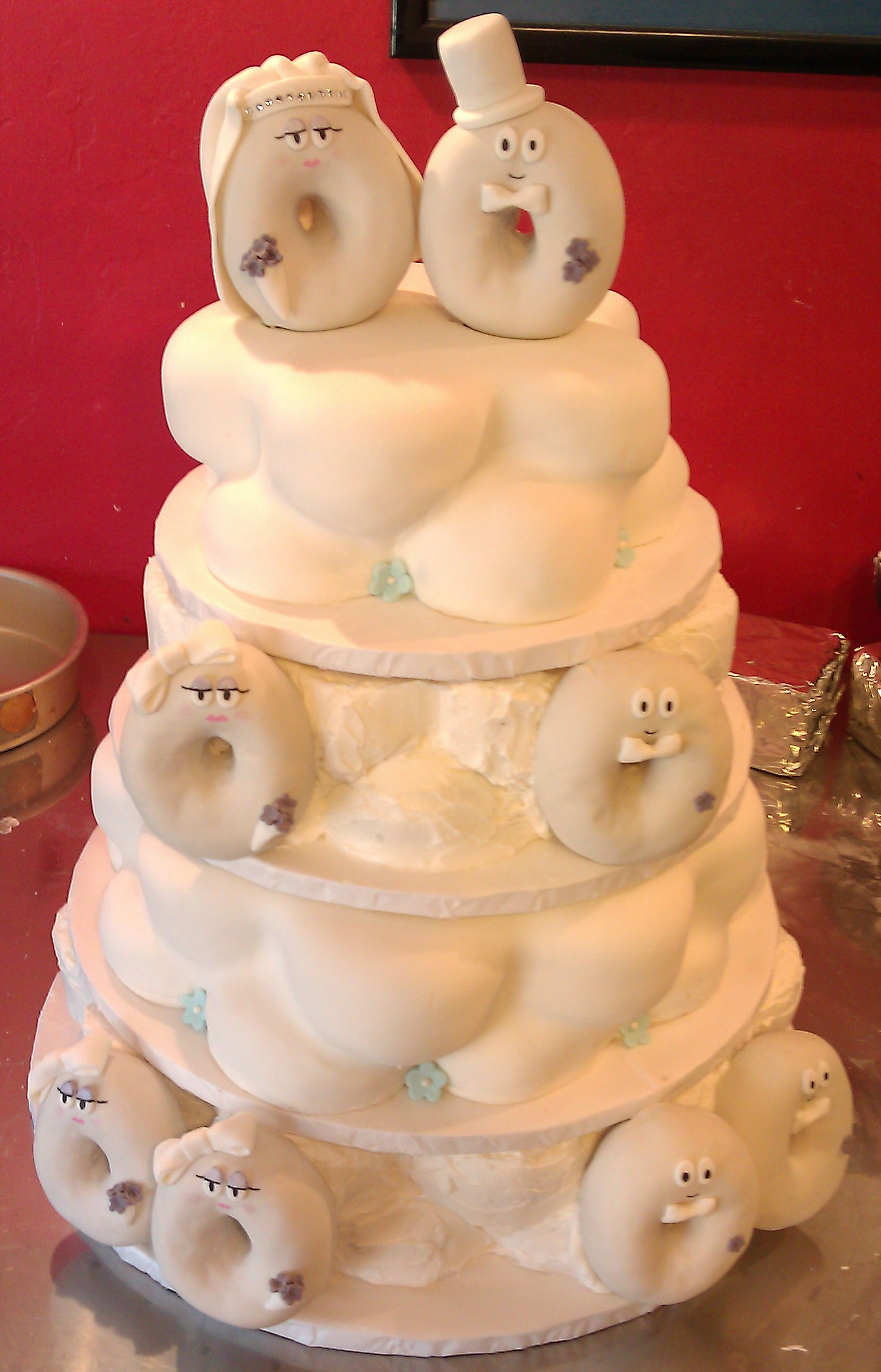 Donut wedding cakes?  Pseriously?  Only at Psycho Donuts! Copyright Psycho Donuts, All Rights Reserved.
