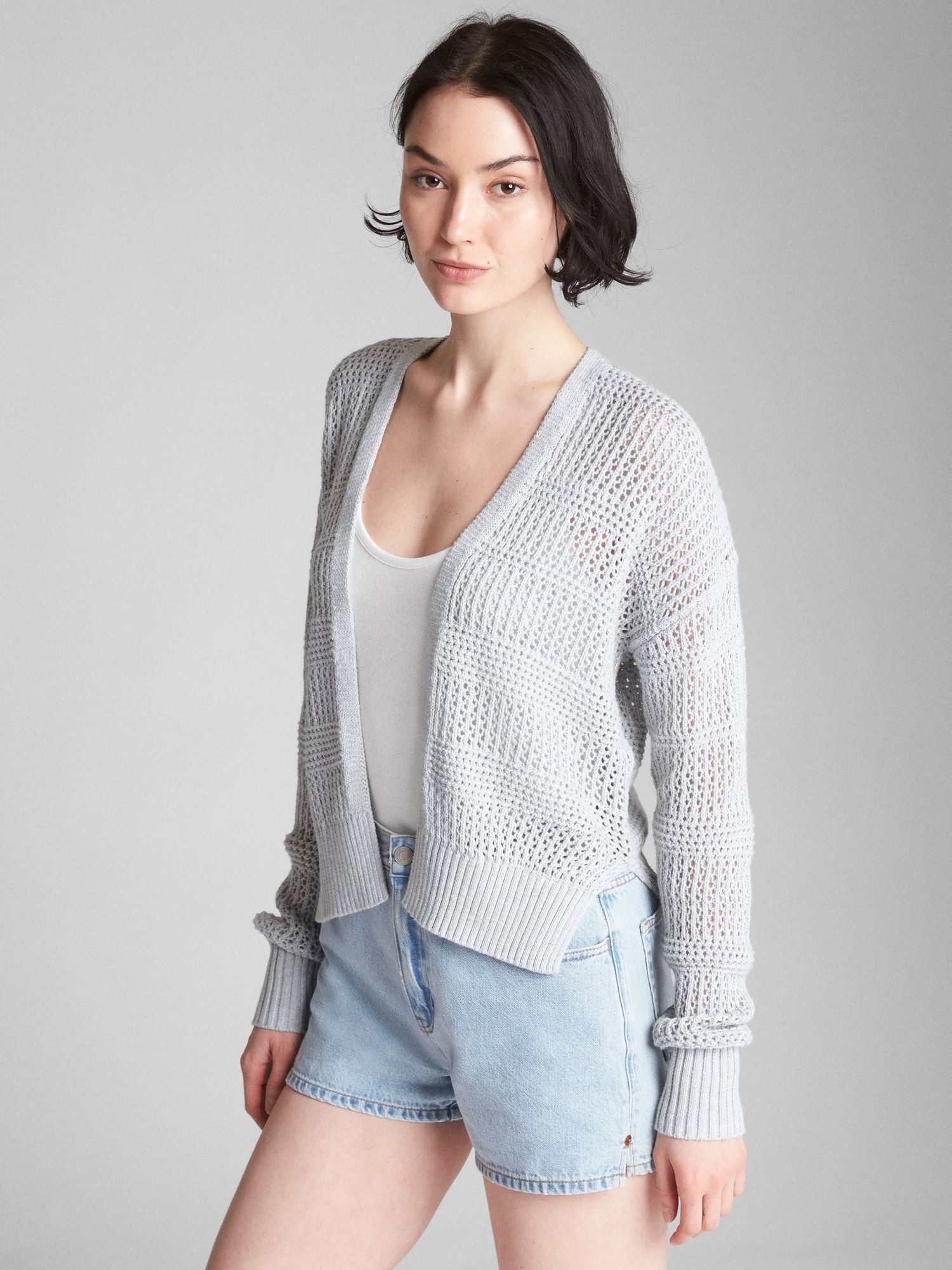 5ef084191 Cocoon Open-Front Cardigan Sweater
