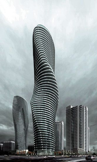 Absolute Towers, Mississauga, Canada #architecture ☮k☮