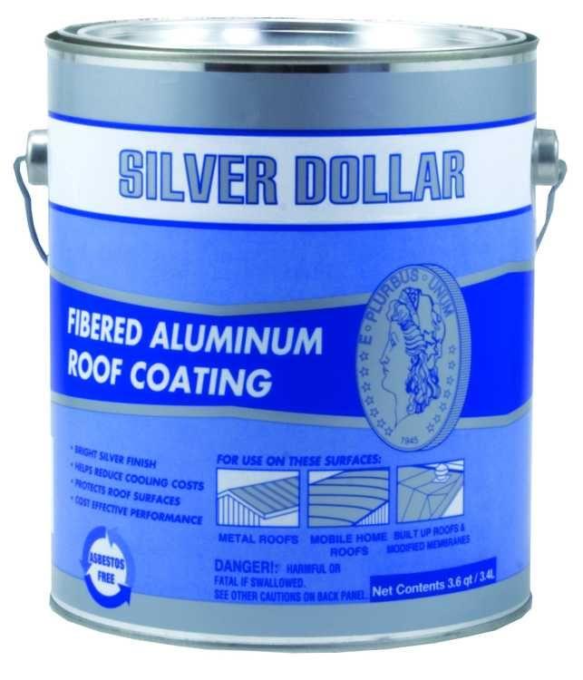 Gardner Gibson 6211 Ga Silver Dollar Fibered Aluminum Roof Coating 9 Gal At Sutherlands Roof Coating Aluminum Roof Roof