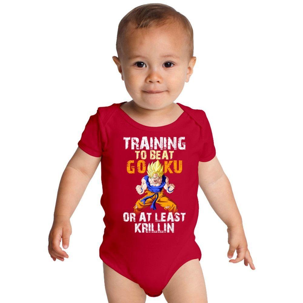 Goku Training Baby Onesies