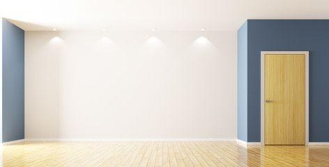 Empty interior of room with door 3d rendering