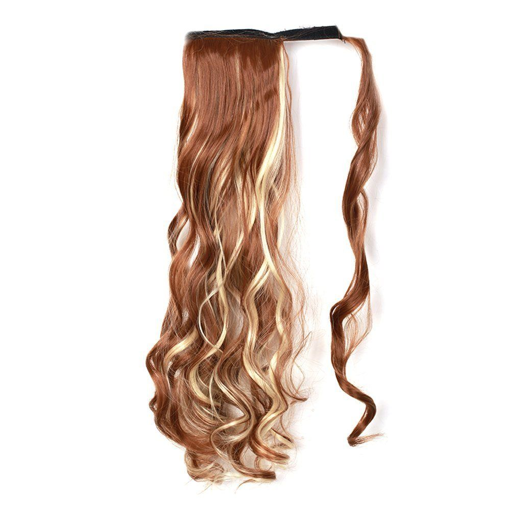 Moda Mode Wrap Around Ponytail Hair Pieces Curly Wave Clip In