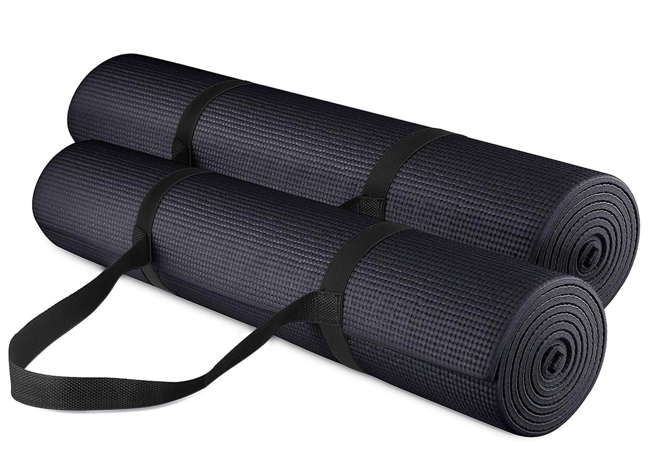 Yogu Exercise Yoga Mat 1 4 Inch Thick Multi Purpose Lightweight Pilates Fitness Mats Durable Washable Non Slip Surfaces Mat Exercises Pilates Workout Yoga Mat