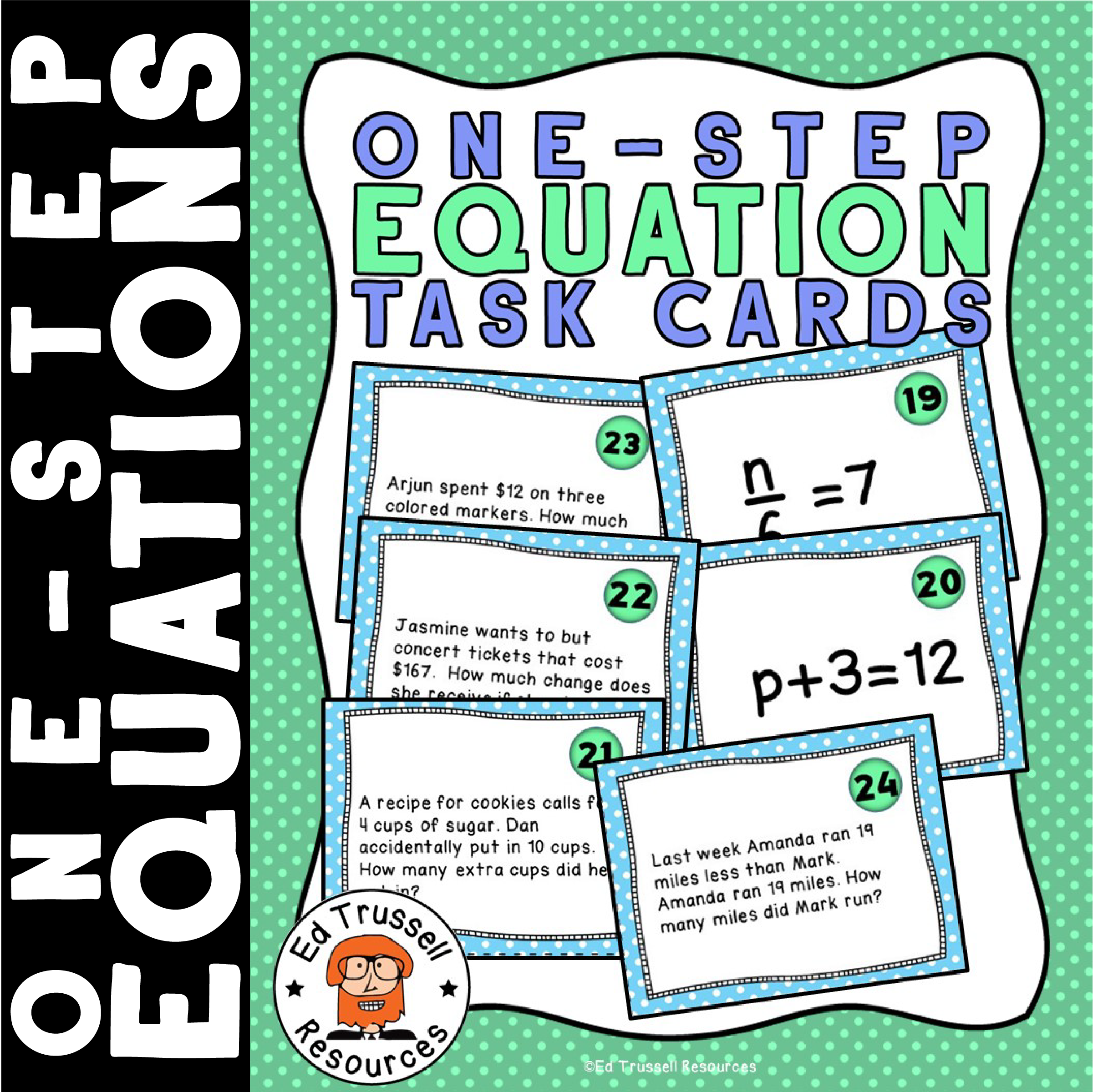 Solving One Step Equation Task Cards