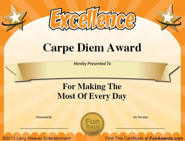 101 Funny Teacher Awards by comedian Larry Weaver    www - employee award certificate templates free