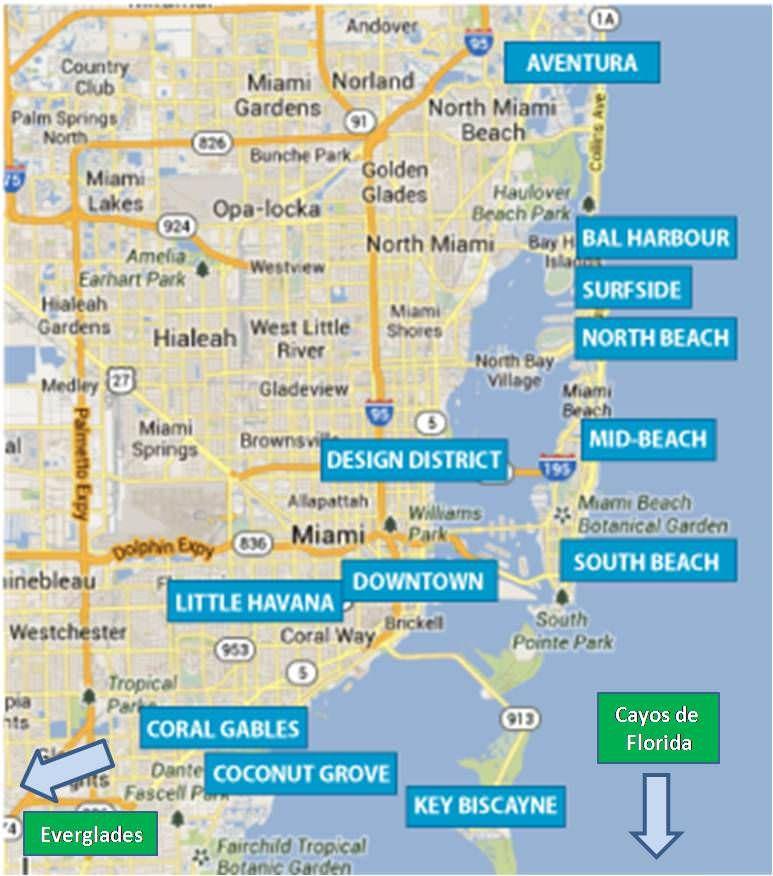Mapa De Miami Miami Map Turismo Viajes A Miami Miami Turismo