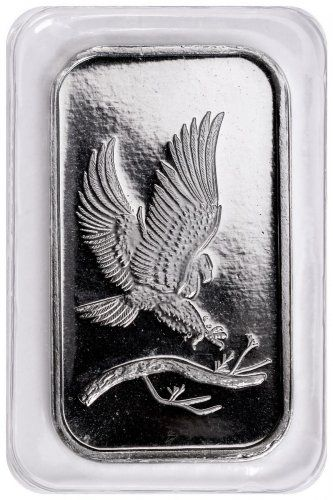 Silvertowne Mint Eagle Design 1 Oz Silver Bar Eagle Design Silver Bars Fine Silver