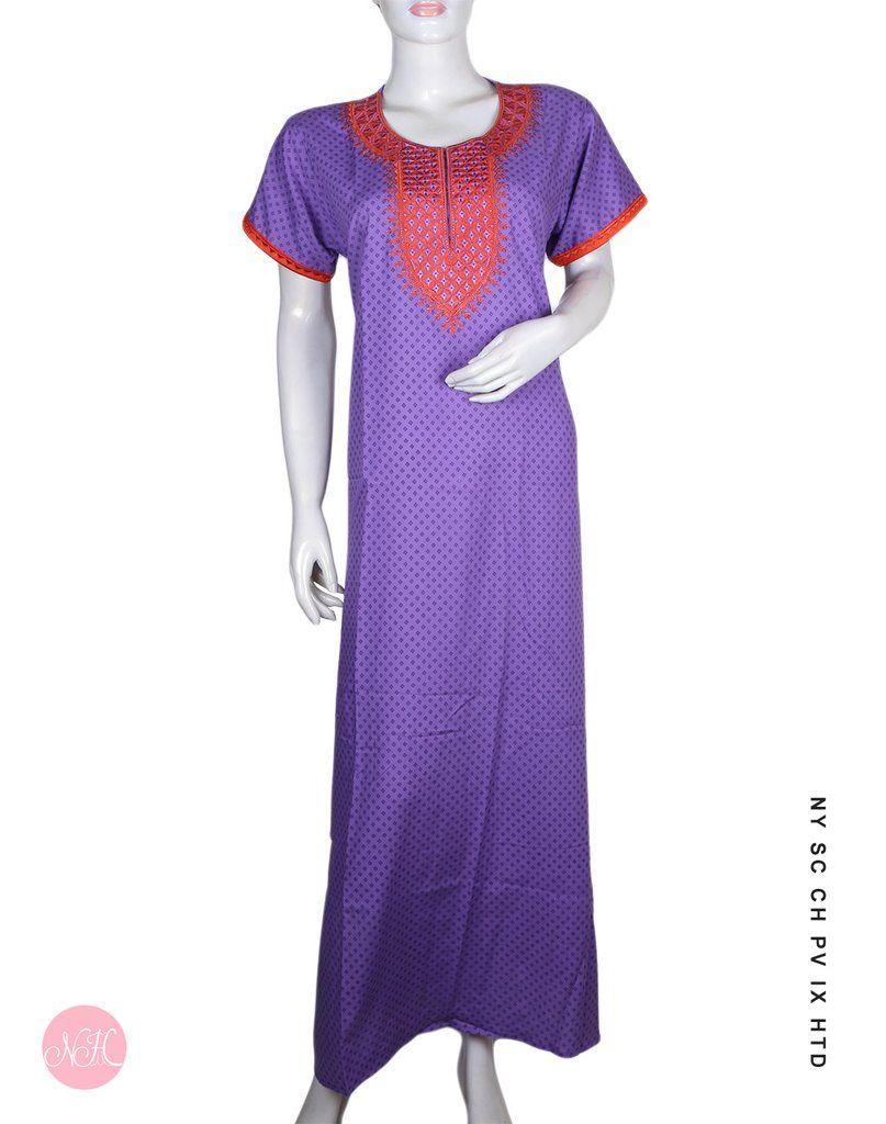 3bf9d03430 Beautiful Polka Prints - Purple Relaxwear  nightdress  nightwear  nighty   nighties  nightsuit