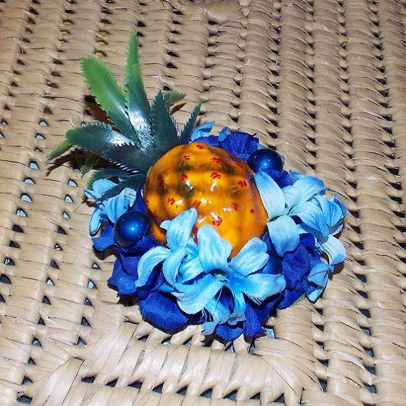 Blue+Hawaiian+Carmen+Miranda+Mini+Pineapple+by+VivaDulceMarina