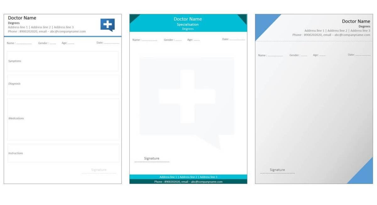 Designs For Medical Prescription Template Medical Prescription Medical Design Prescription