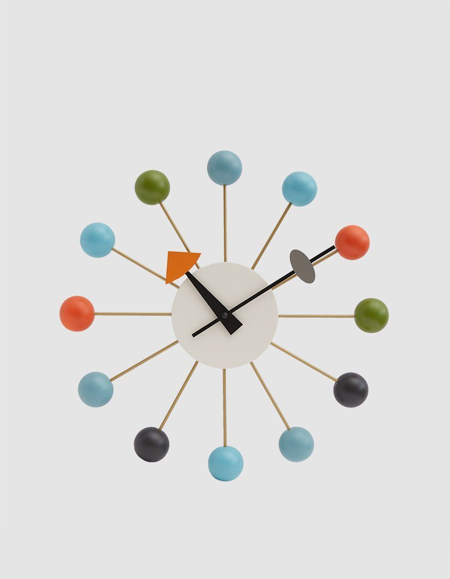 Vitra George Nelson Ball Clock In Multicolor Georgenelson In 2020 Nelson Ball Clock George Nelson George Nelson Furniture