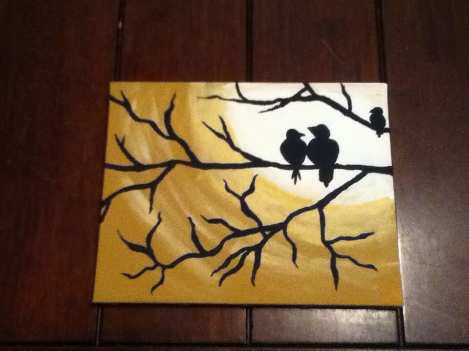 Canvas I made for my sister for her birthday this year.