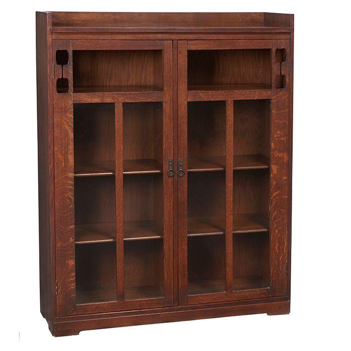 Limbert, Bookcase, #361, Grand Rapids, MI, Oak, Signed