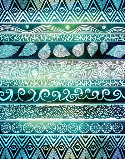 Stripe pattern pattern  palette Pinterest Turquoise, Patterns