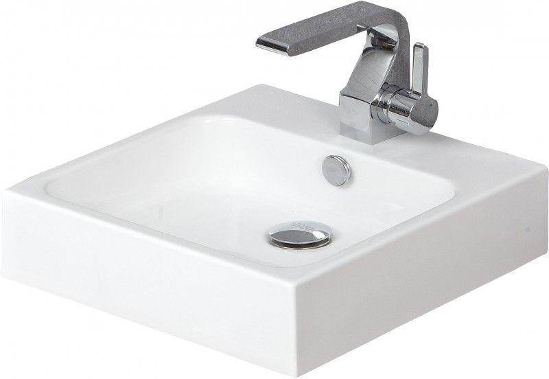 Aufsatzbecken Aufsatz Waschbecken Quadrat KA0978 - Design geradlinig - 39,6x39,6x10cm günstig online kaufen