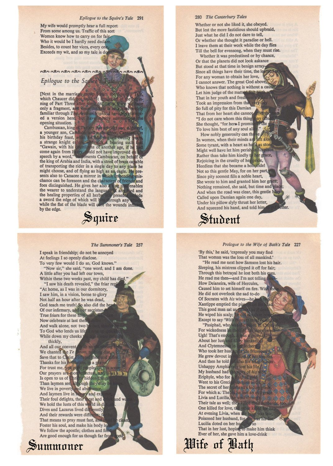 Repurposed Art From Chaucer S Canterbury Tales