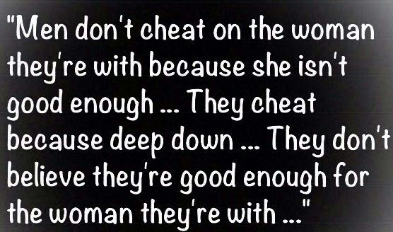 When a man cheats and lies
