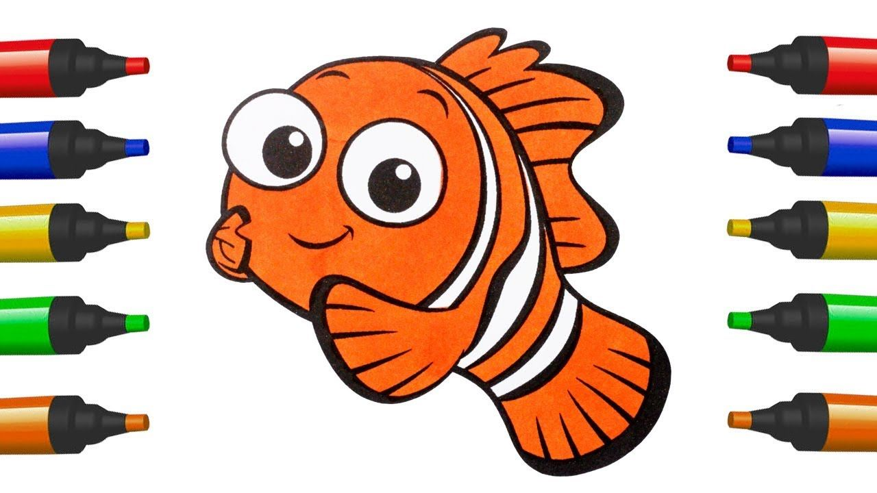 How To Draw Nemo For Kids Coloring Pages Nemo Disney Finding Nemo For Ch Drawing For Kids Coloring For Kids How To Draw Nemo