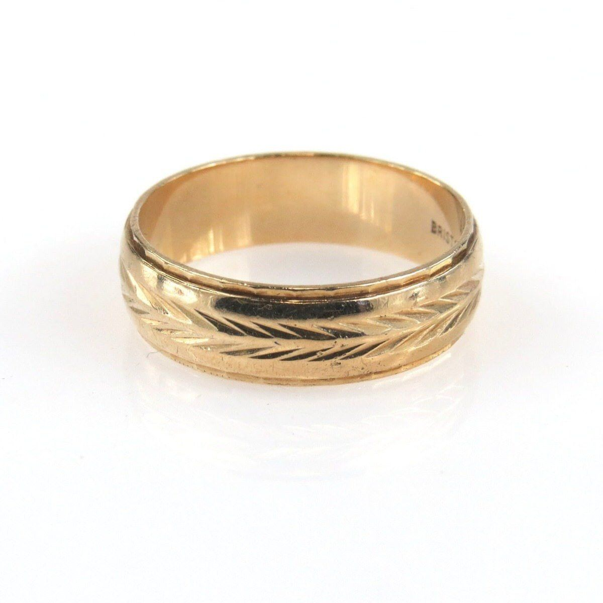 brushed man wide band bands pin mens wedding ring gold
