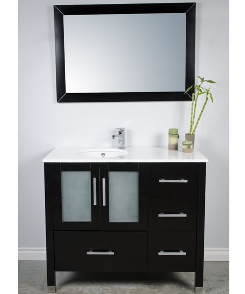 Modern 41 Inch Bathroom Vanity With Undermount Sink And Solid Wood Cabinetry The Cabinet Has 4 Deep Drawers A Large Cupboard Available For Online