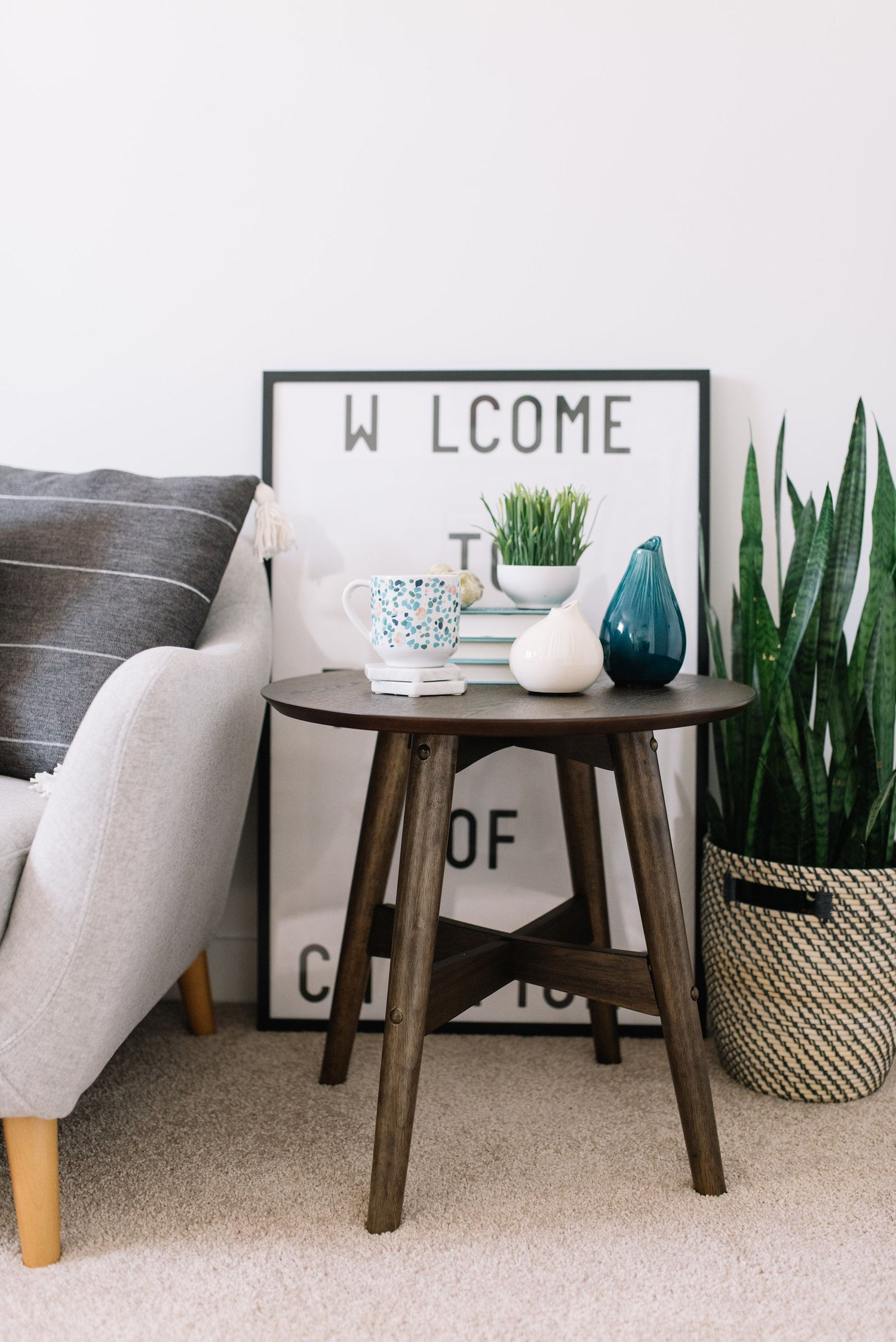 3 Ways To Use A Small Side Table 204 Park Round Table Decor Small Table Decor Round Living Room Table