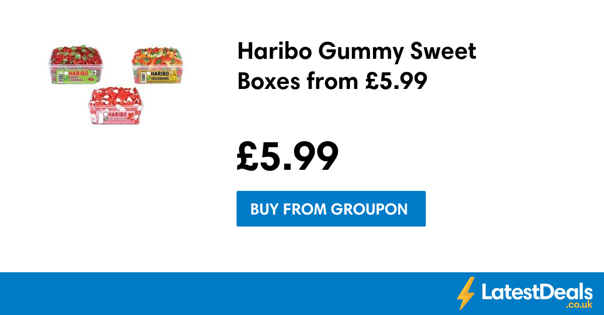 Haribo Gummy Sweet Boxes from £5.99 at Groupon