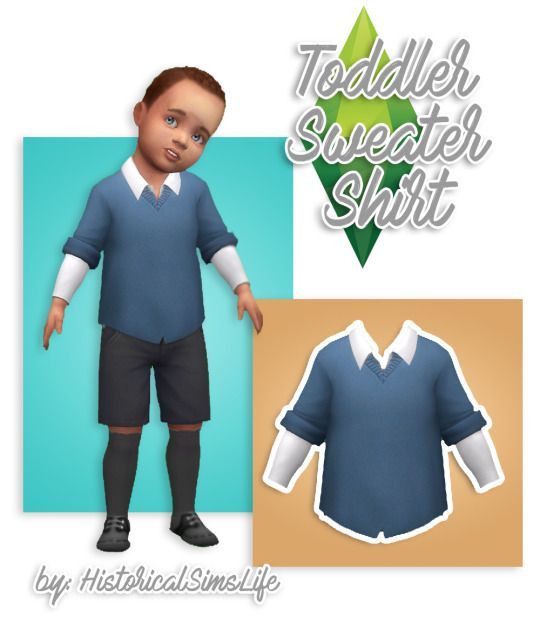 Sims 4 CC's - The Best: Toddler Sweater Shirt by historicalsimslife
