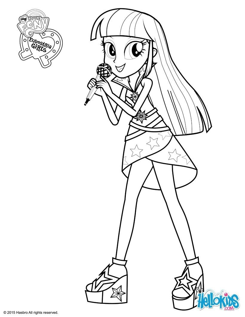 Coloringsco My Little Pony Equestria Girls Coloring Pages Twilight Sparkle