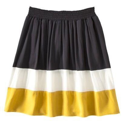 Elastic Waist Colorblock Skirt / Mossimo Womens