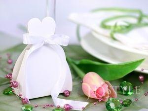 Pudełeczko dla gości, sukienka PUDP1/K - 10szt - podziękowanie dla gości w formie sukienki Panny Młodej,