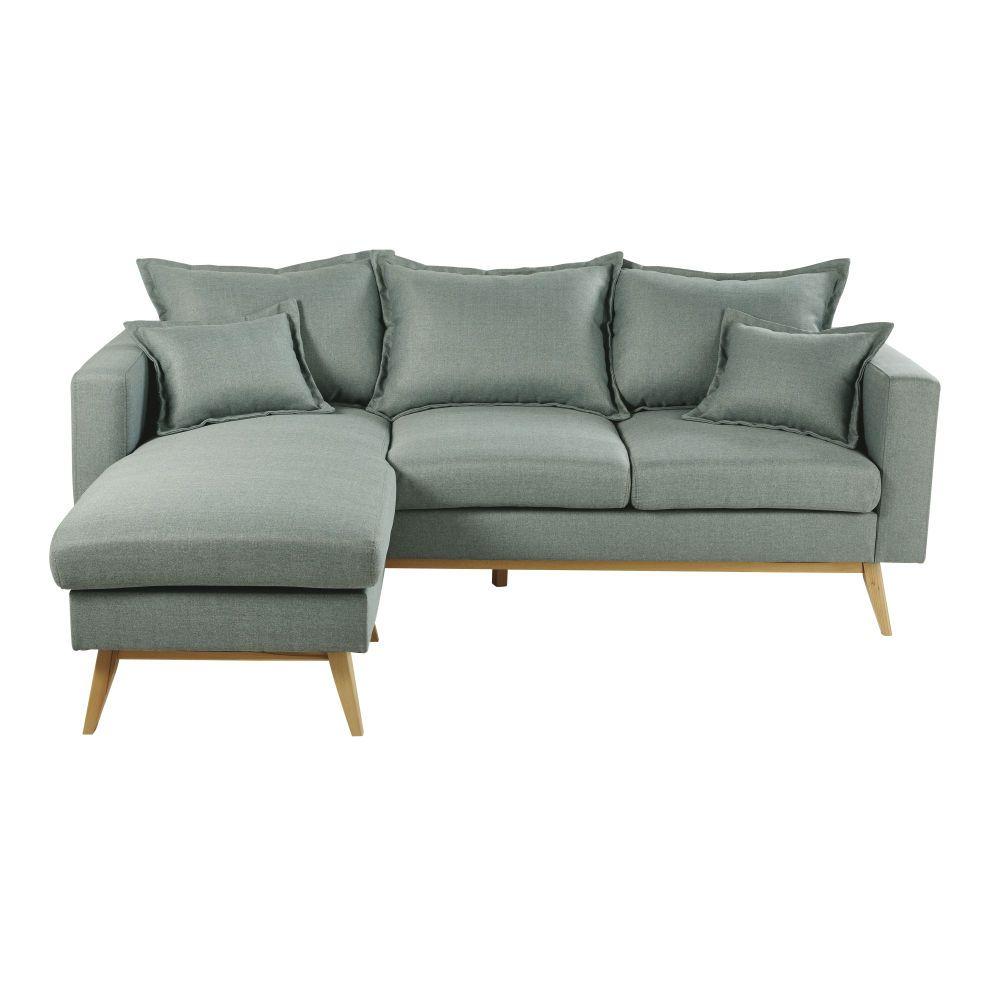 Sofa Esquinero Modular De Estilo Escandinavo De 4 5 Plazas Verde Agua Duke Canape Angle Canape D Angle Modulable Canape Vert