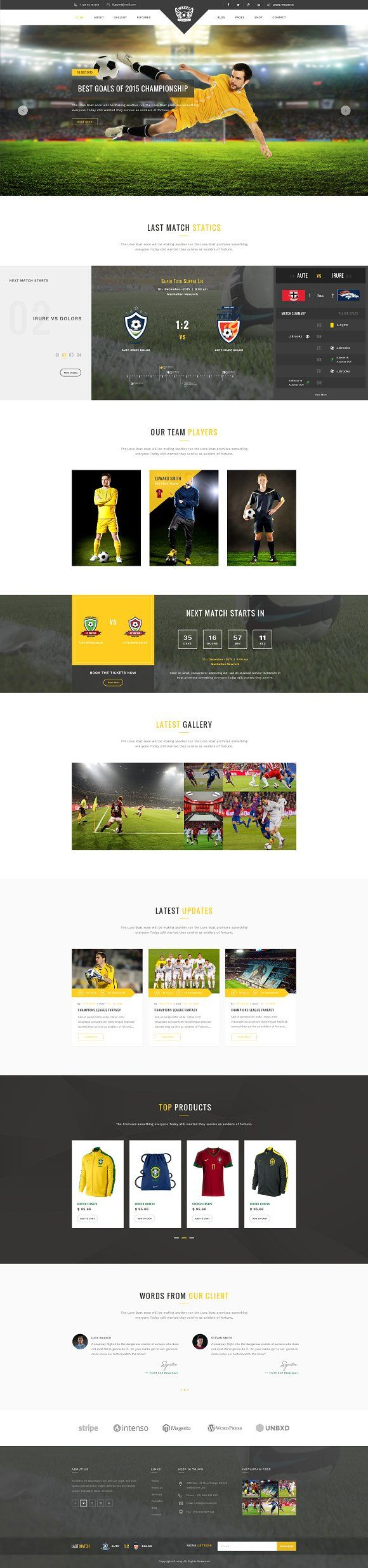 Wikideo - Sports HTML Template by ThemeShop on @creativemarket