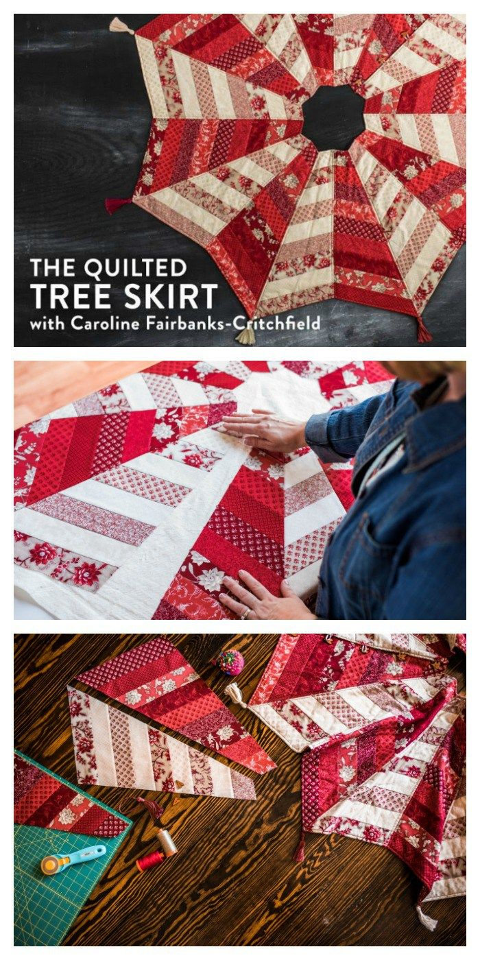 Quilted Tree Skirt Pattern + Class Christmas tree skirts