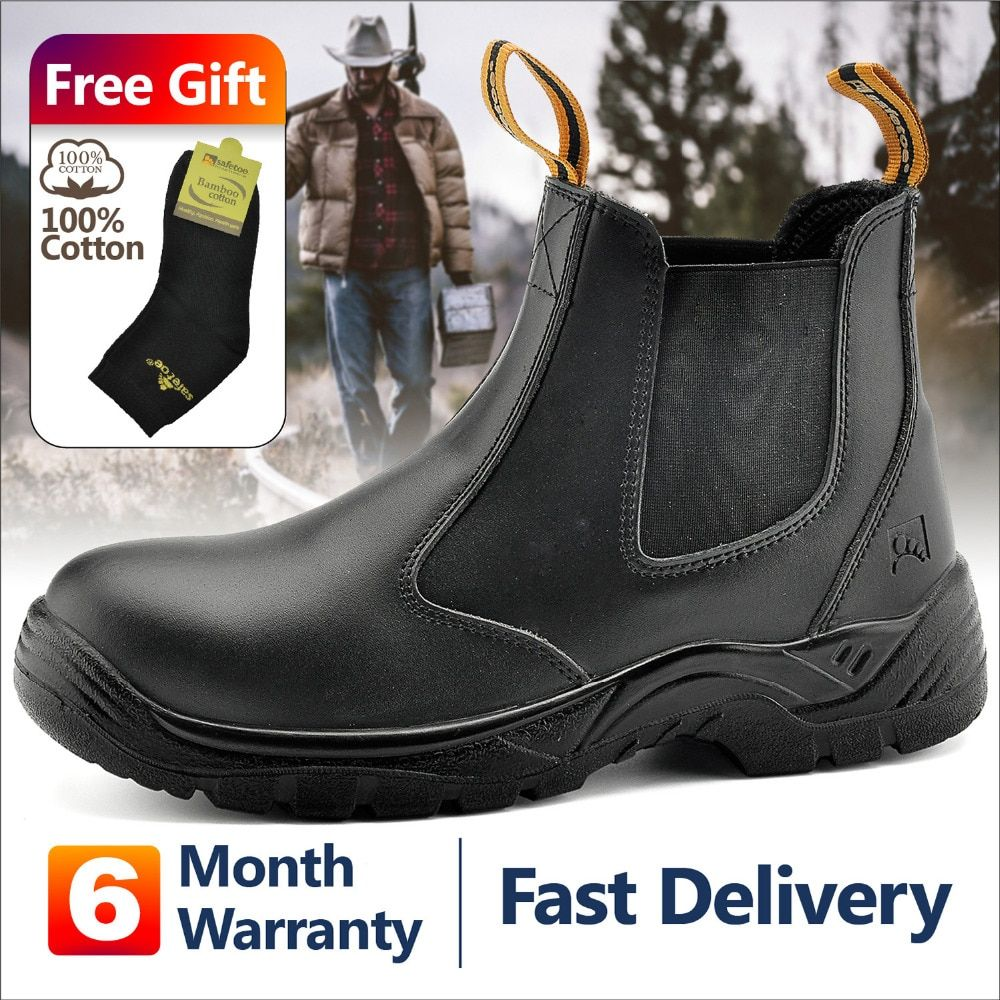 Safetoe S3 Safety Shoes With Steel Toe Cap Light Weight Work Safety Boots With Waterproof Leather For Men And Women Botas Hombre In 2020 Safety Shoes For Men Safety Work Boots Boots