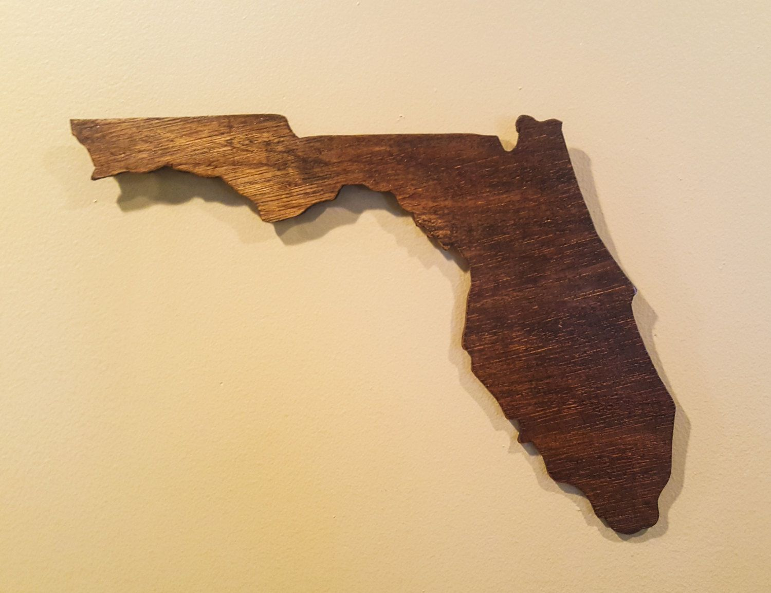 Florida Wall Art, Wooden Florida Map, Rustic Florida Decor, Florida ...