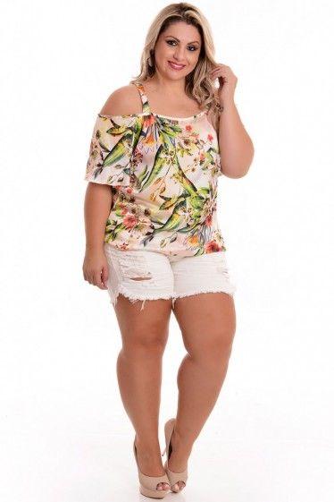 69e215fd50eb Blusa Plus Size Ciganinha Rose | Cosas para comprar | Roupas ...
