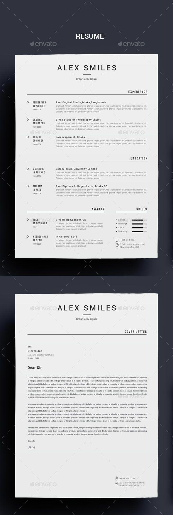 Resume — Photoshop PSD #creative resume/cv #professional resume/cv ...