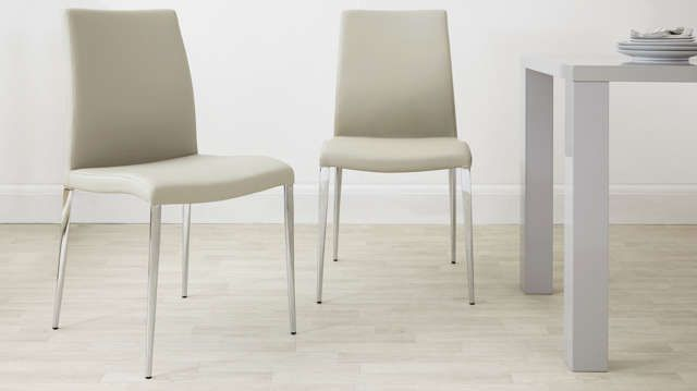 modern grey dining chairs uk does big lots have bean bag light cream chair family room eglise