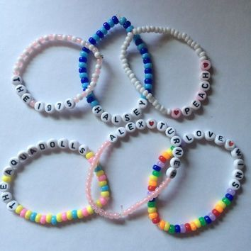 CUSTOM LETTER BEAD bracelets, must be under 15 letters! | kandi