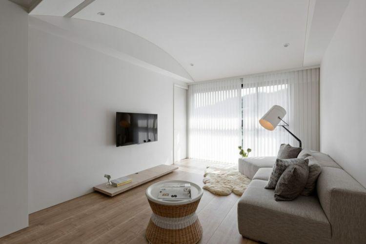 Wandfarbe Weiß für ein modernes Innendesign | Wohnzimmer Inspiration ...